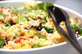 Nem tabbouleh med broccoli og majs