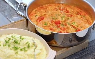 kromutters sigøjnerpande med kartoffelmos