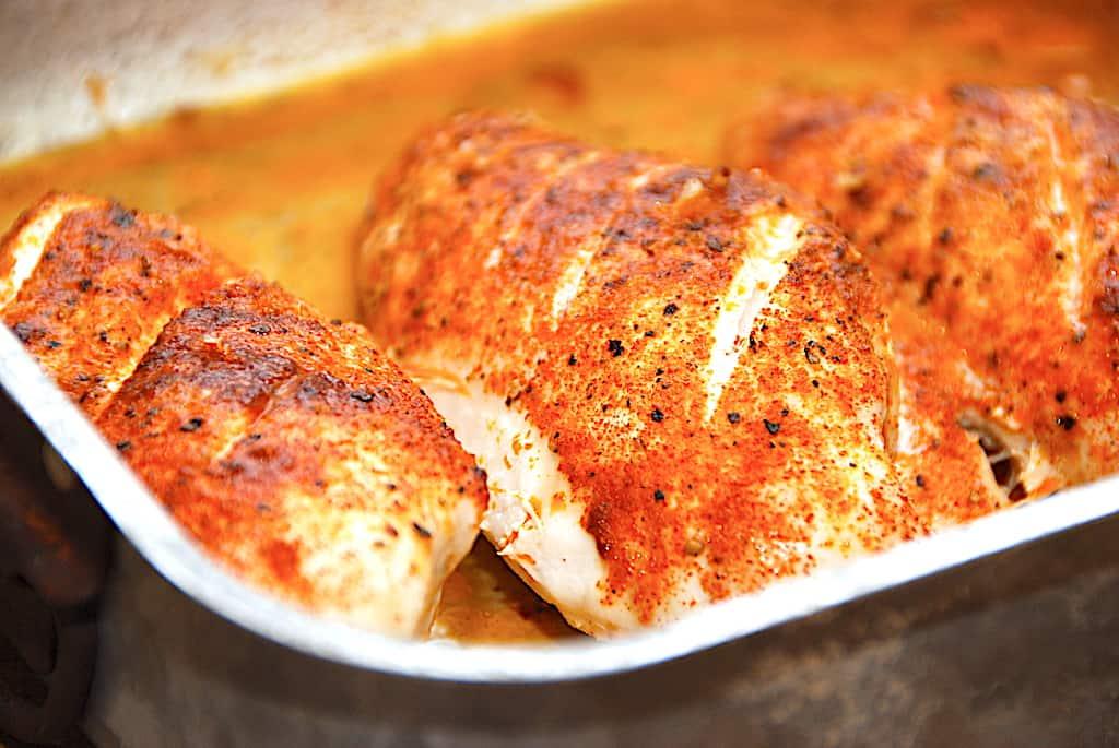Stegning af kyllingebryst i ovn