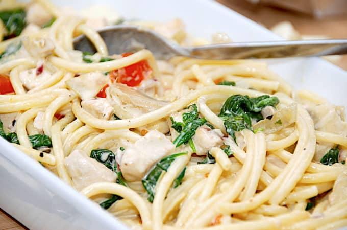 pasta med artiskokker