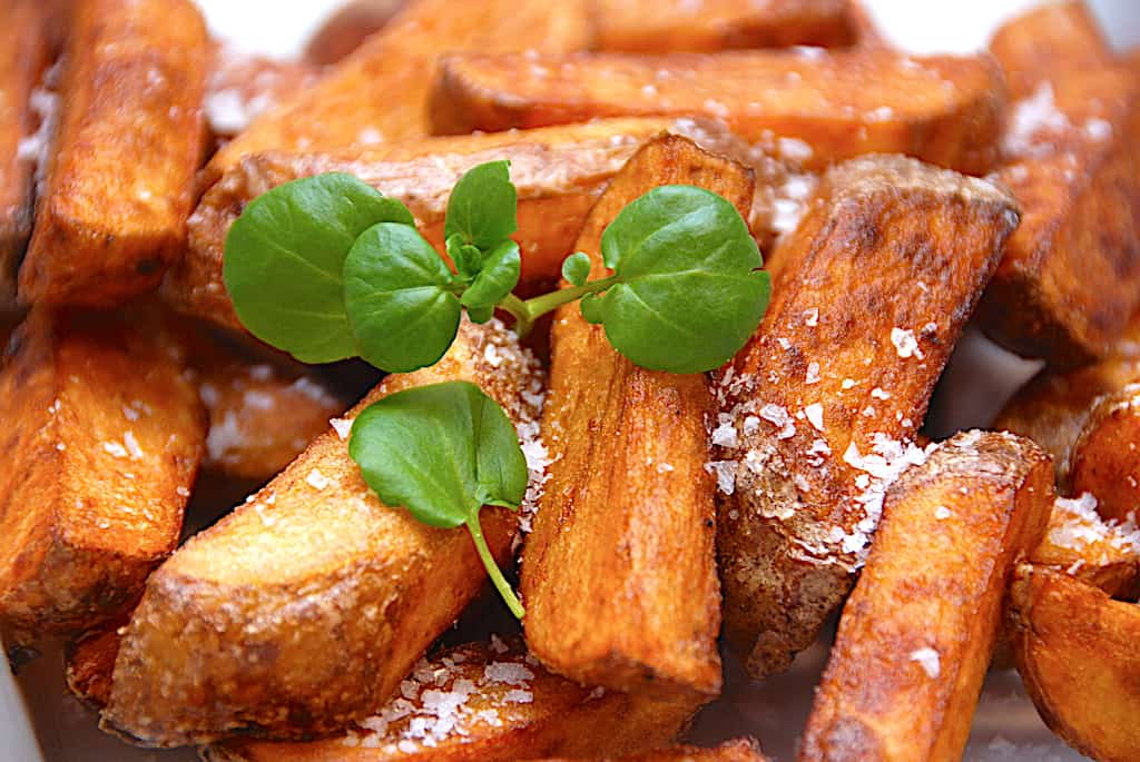 Steak house frites – opskrift på store pommes frites!