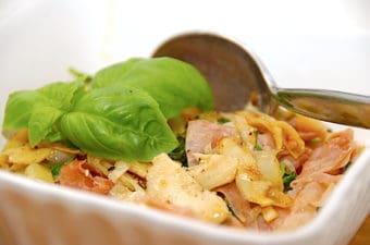 Stegte artiskokker med spinat og skinke (nem forret)