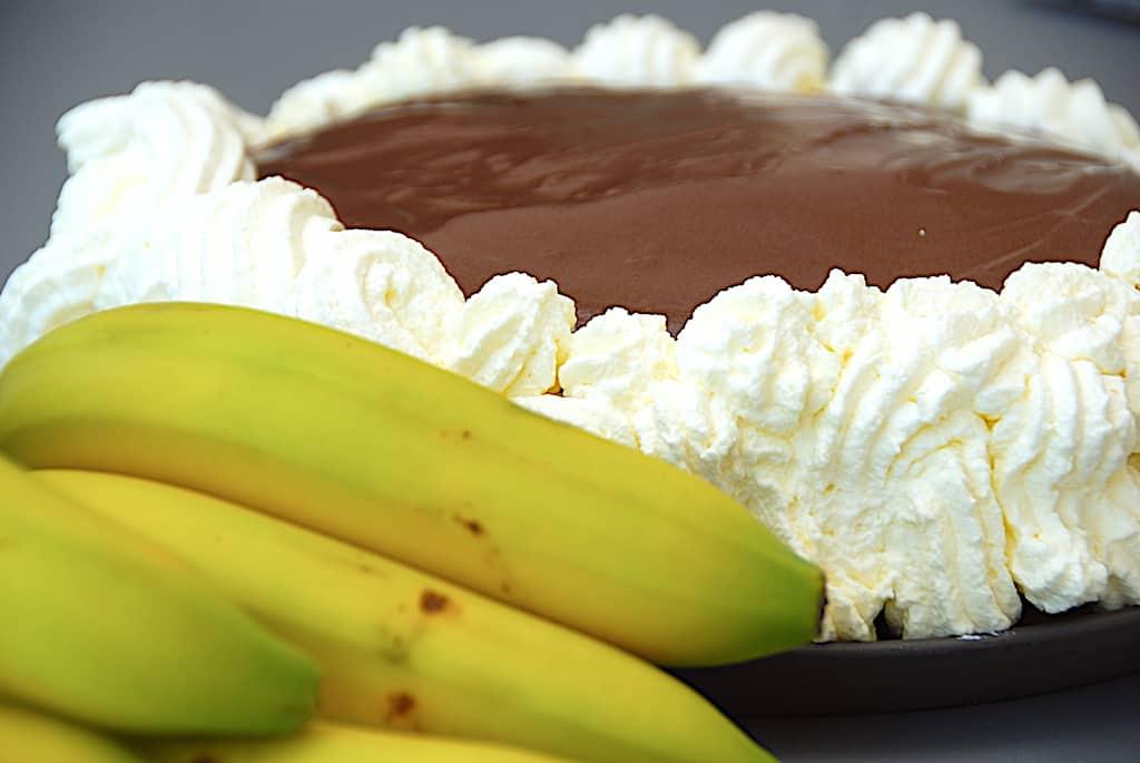 Bananlagkage - nem lagkage med banan og chokolade