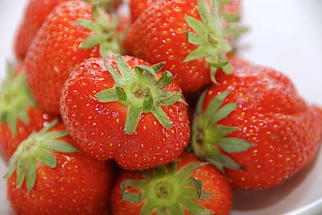 jordbær i skål