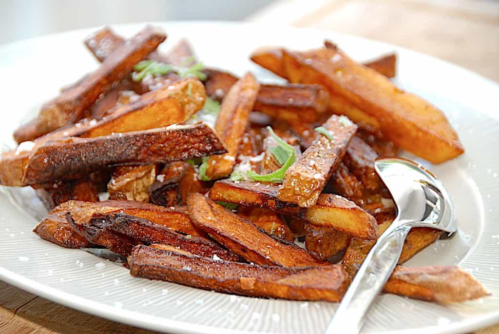 Pandestegte pomfritter – nemme pommes frites på pande