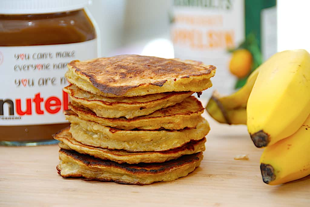 Bananpandekager - sund og nem opskrift med havregryn og banan