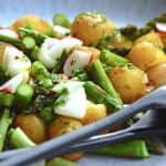 grillsalat med kartofler og asparges