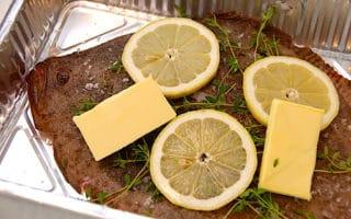 dampet pighvar i ovn eller grill