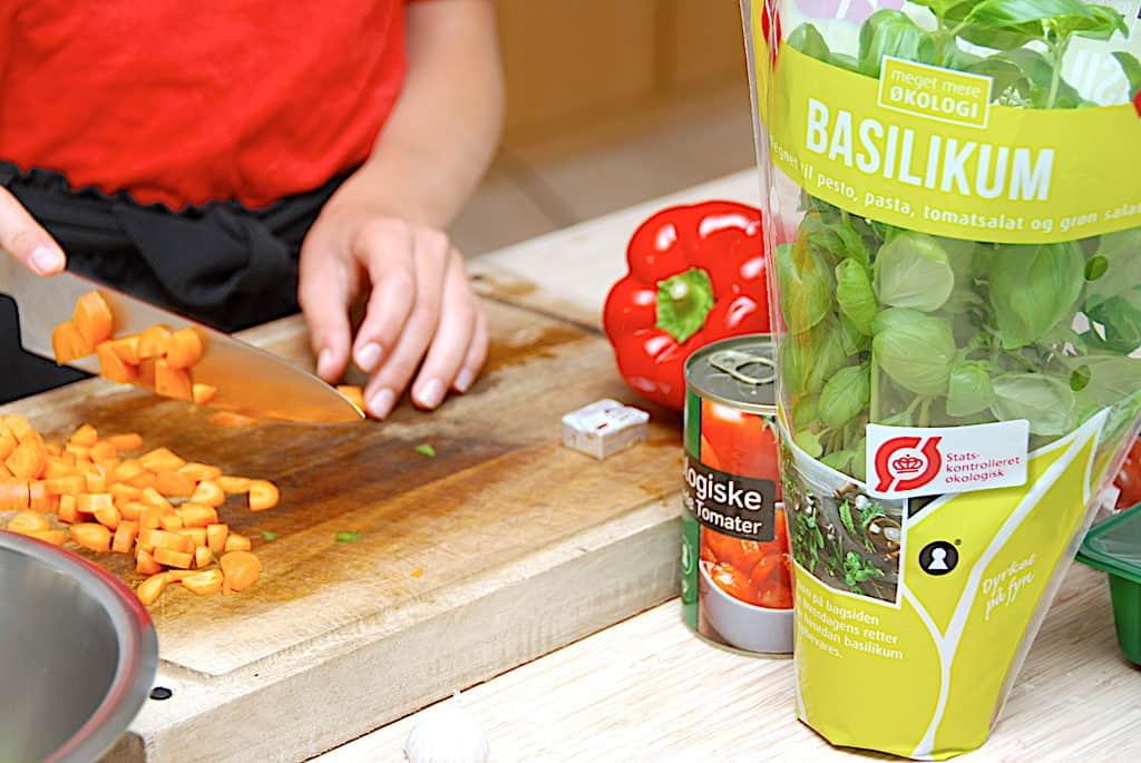 grøntsager til børnevenlig kødsovs