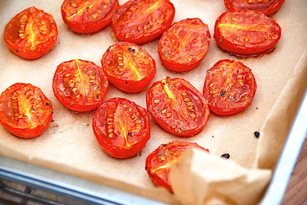 Semidried tomater - langtidsstegte i ovn på 1 time