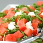vandmelonsalat med salattern og rucola