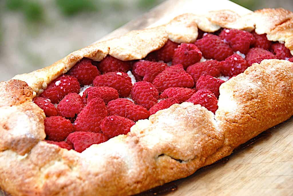 Hindbærgalette - nem mørdejskage med hindbær