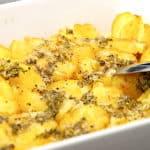 knuste kartofler med hvidløgssmør