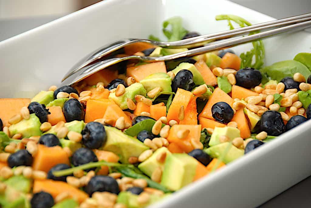 Melonsalat med avocado - nem og sund salat