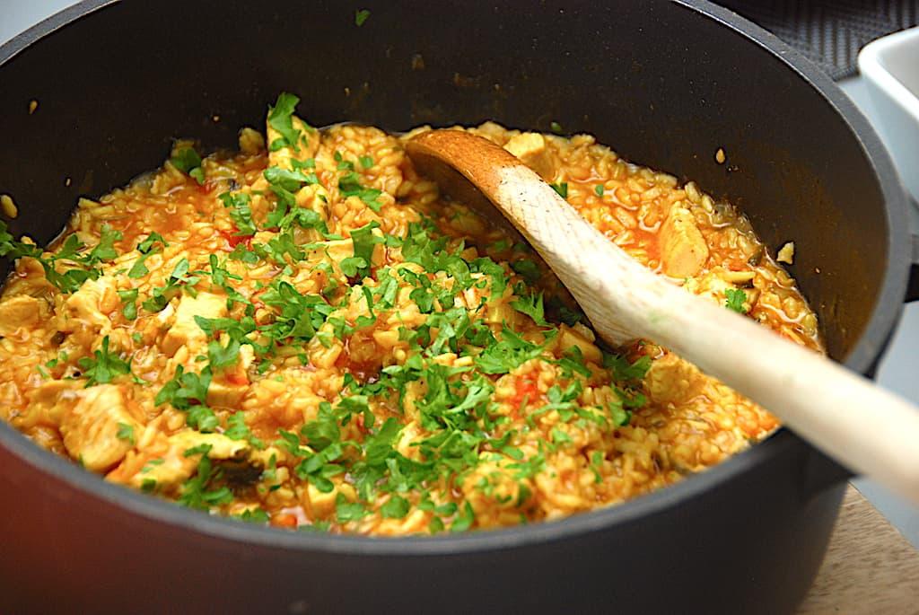 One pot kylling med ris - nem risret til aftensmad