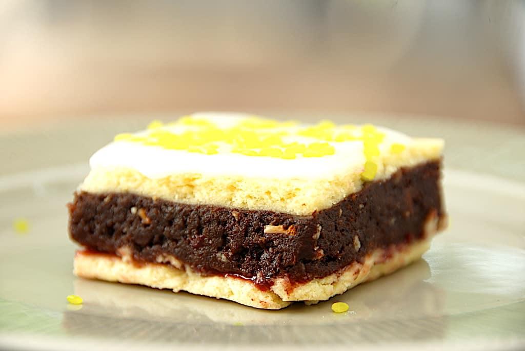 Romkugle snitter - nemme kager med romkugledej