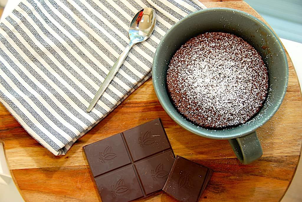 Mug cake - opskrift på verdens hurtigste chokoladekage