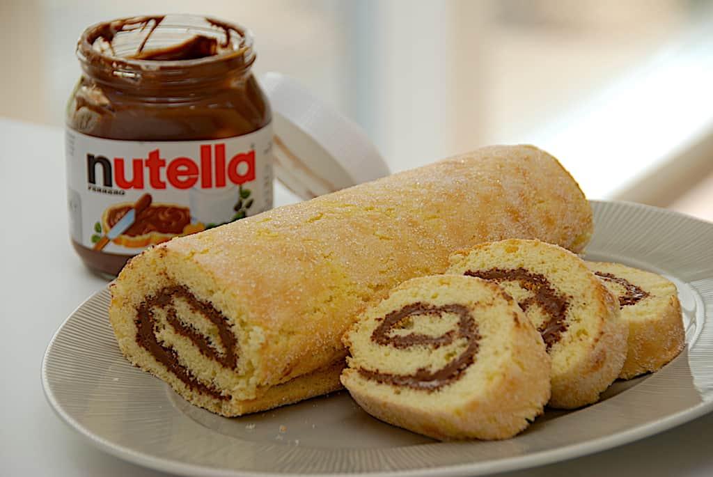 Nutella roulade - nem opskrift på roulade med Nutella