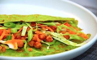vegetar spinat pandekager