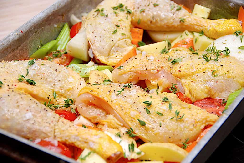 Kylling med rodfrugter - opskrift til at undgå madspild