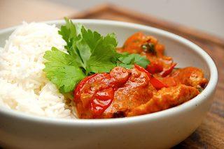 mørbradgryde med ris