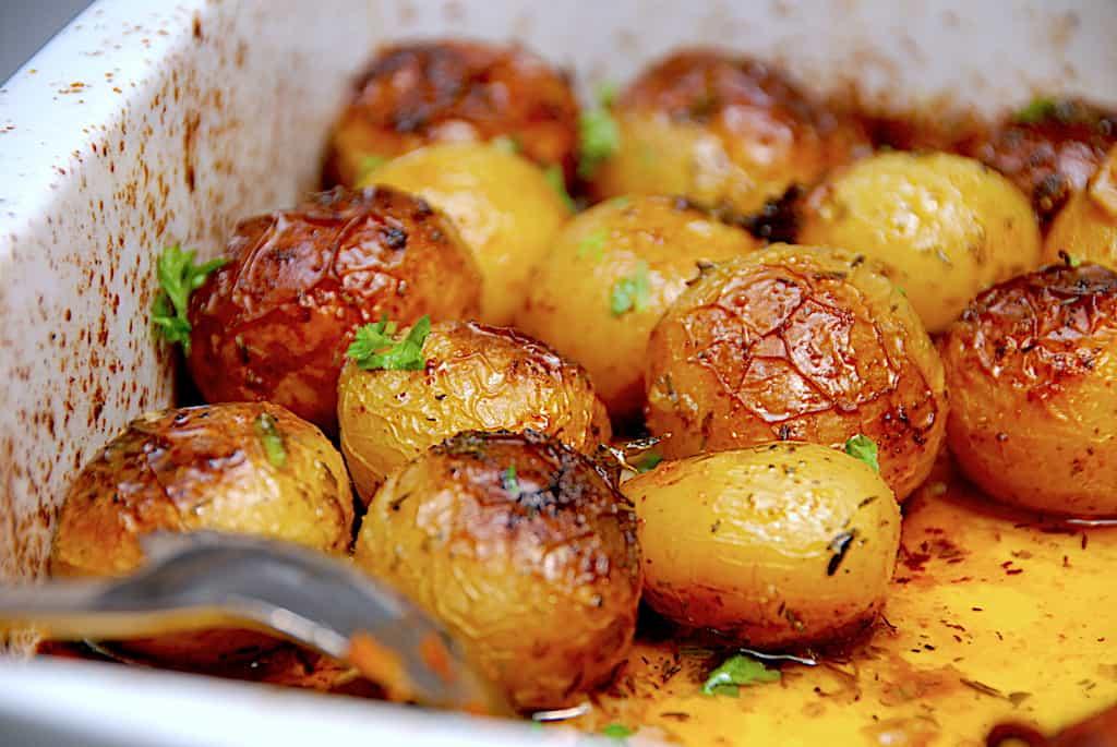 Græske kartofler - nemme kartofler i ovn