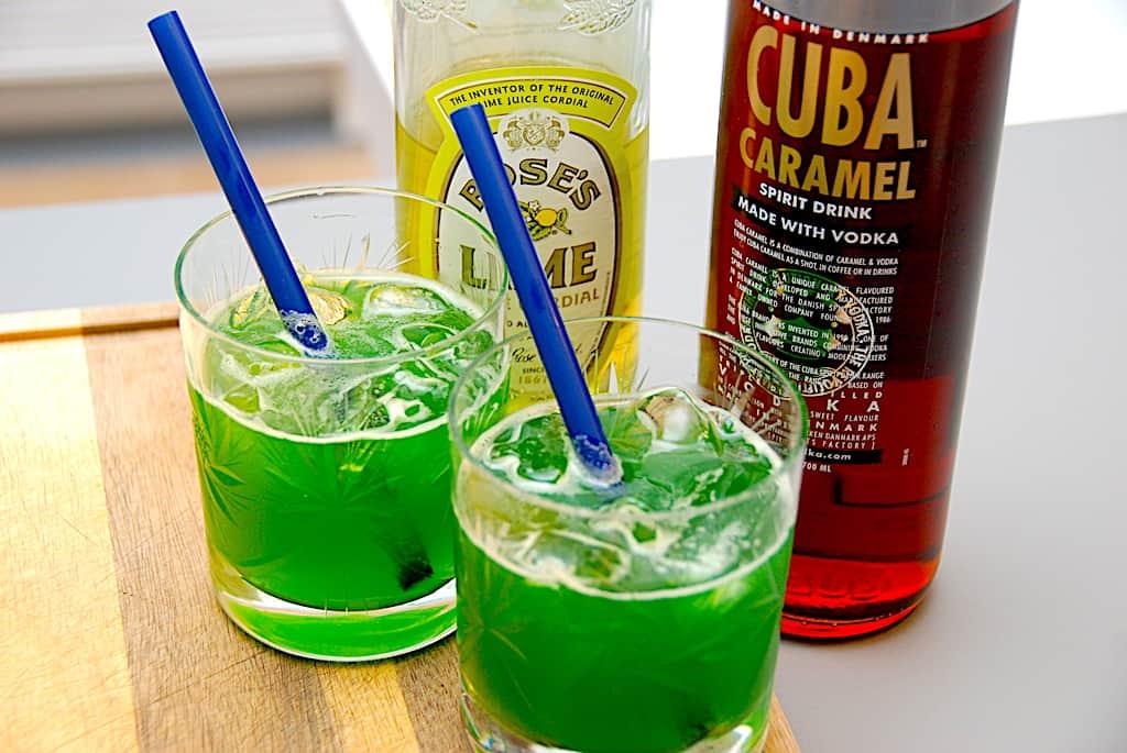 Champagnebrus drink - opskrift med Cuba Caramel
