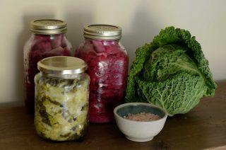 Fermenterede grøntsager i glas