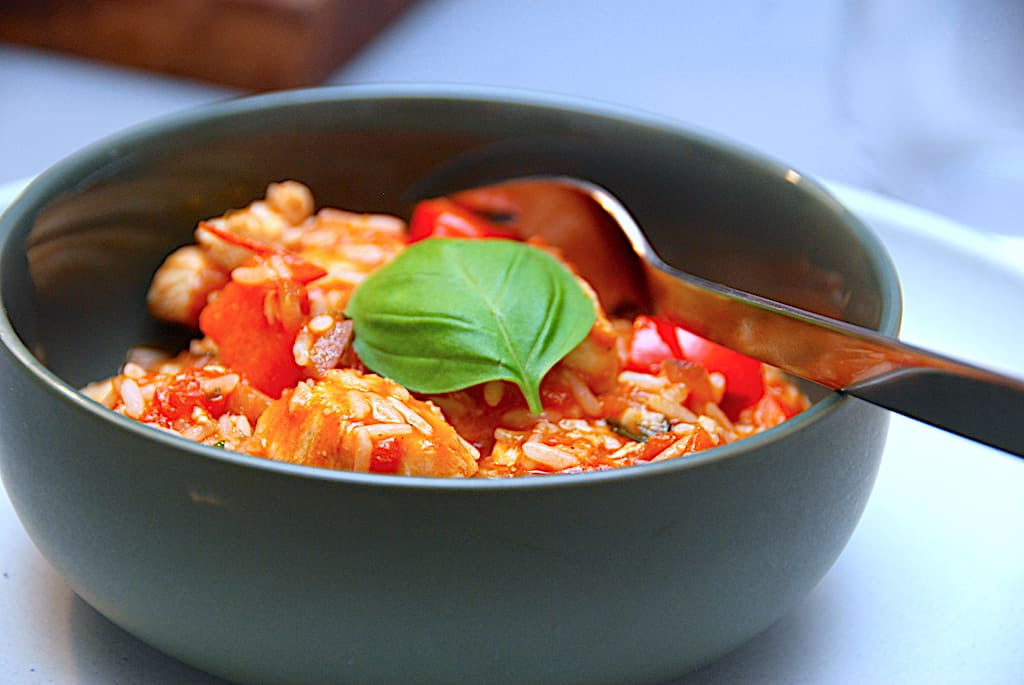 Italiensk risgryde med kylling - nem alt-i-en gryderet
