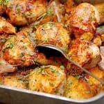 billederesultat for kartofler med kylling i ovn