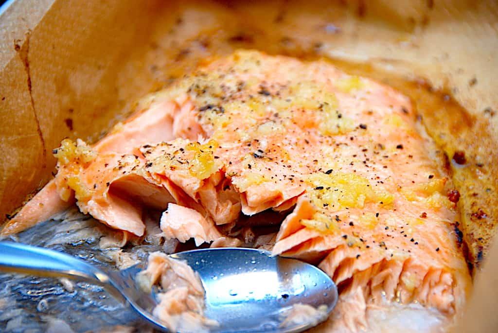 Hurtig opskrift på hvidløgslaks i ovn
