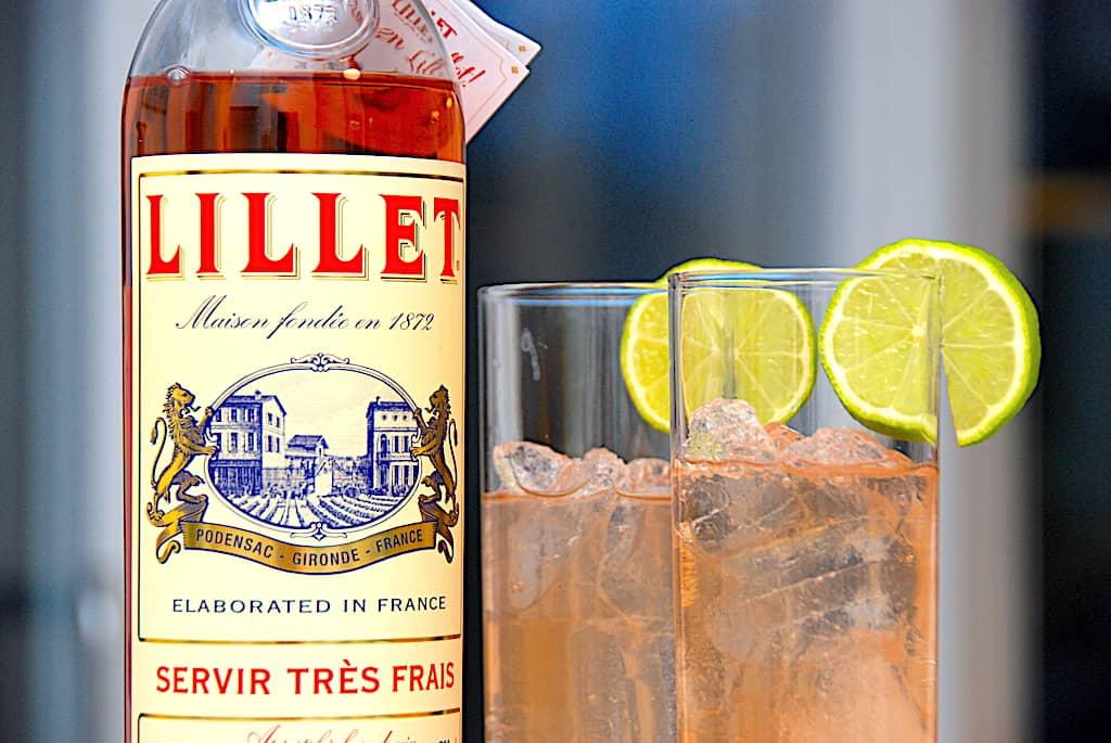 Lillet Rosé tonic - nem drink med Lillet