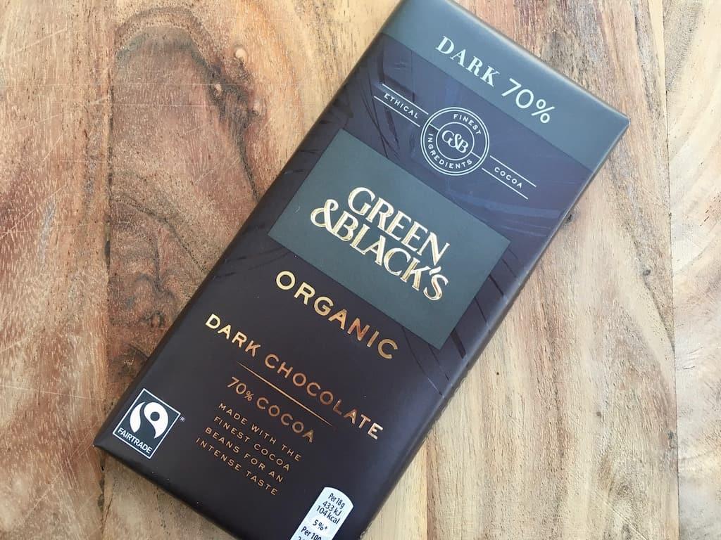 Green & Black's dark chokolate