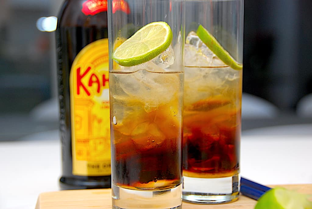 Kahlua Collins - drink opskrift med kaffelikør