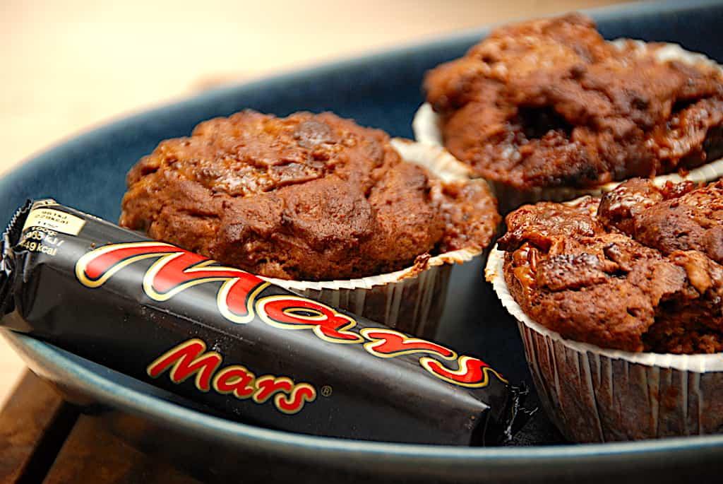 Mars muffins - opskrift på kage med Mars chokoladebar