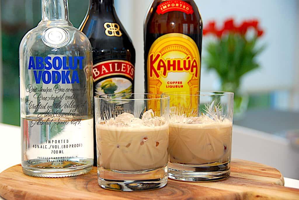 Mudslide drink - opskrift med vodka, Kahlua og Baileys