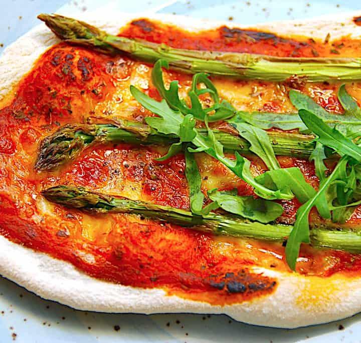 pizza med asparges