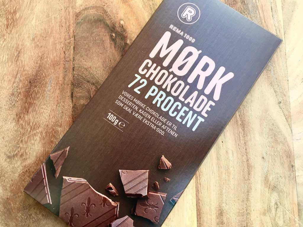 Rema 1000 mørk chokolade 72 %
