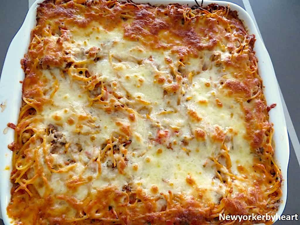 Cremet spaghetti i fad - børne- og familievenlig opskrift