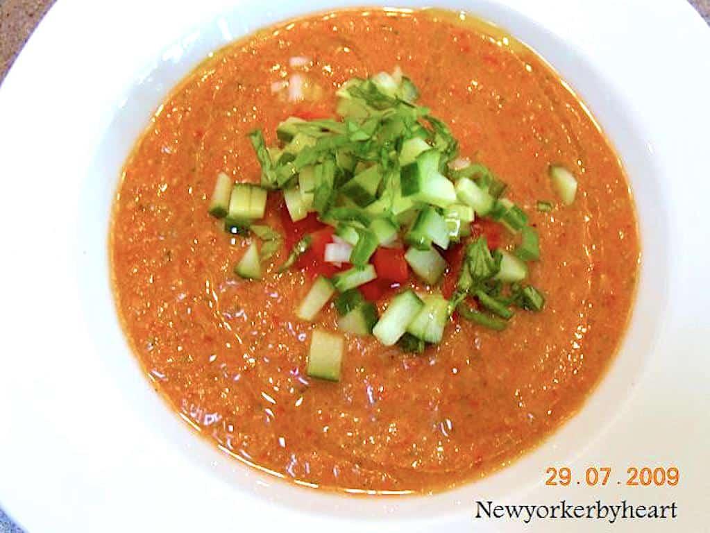 gazpacho kold tomatsuppe fra Spanien