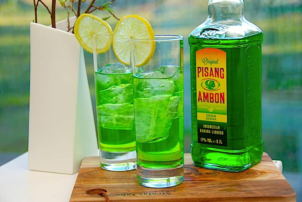 Græsplæne drink med Pisang Ambon og vodka