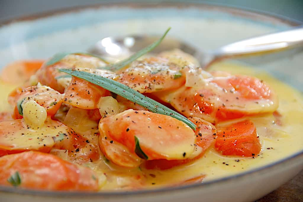 Gulerødder med estragon på 20 minutter