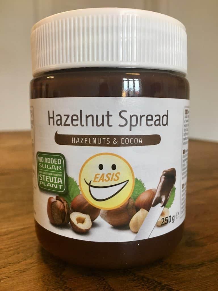 Smagstest af nøddecreme, Easis Hazelnut Spread