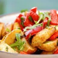 billederesultat for italiensk kartoffelsalat med stegte kartofler