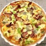 Kartoffelquiche med porre og gorgonzola