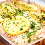 laks på grill med citron