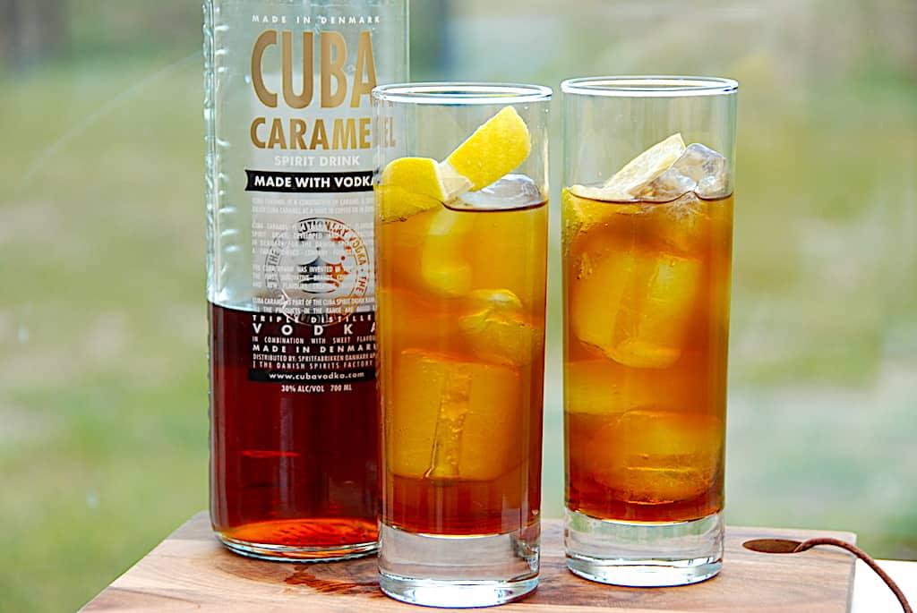Matador drink med Cuba Caramel, cola og Squash