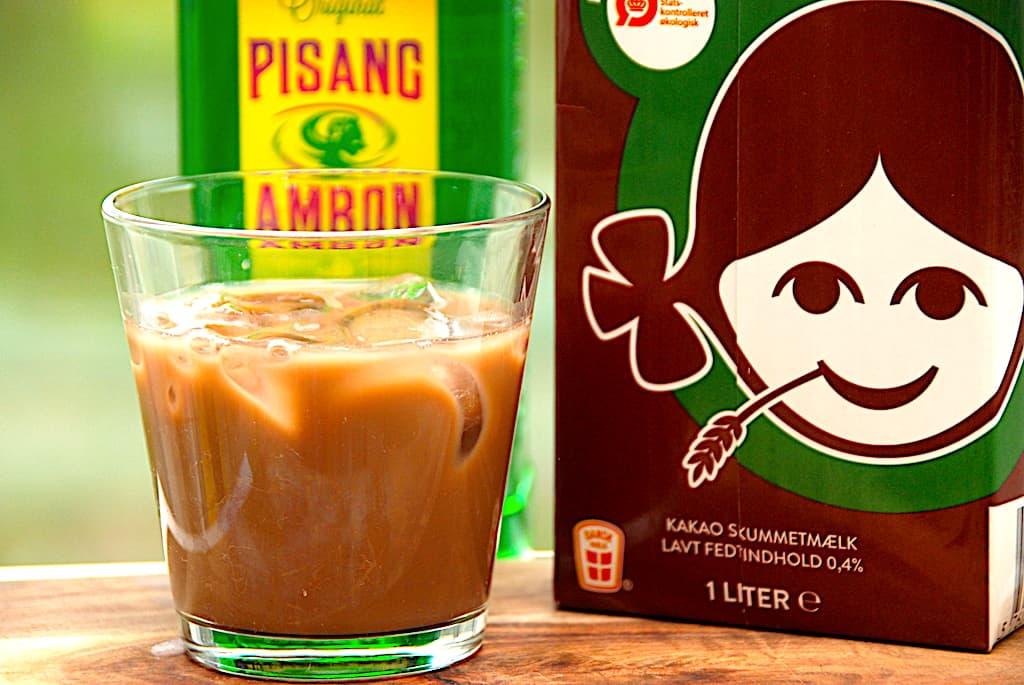 Skumbanan drink med Pisang Ambon og kakaomælk