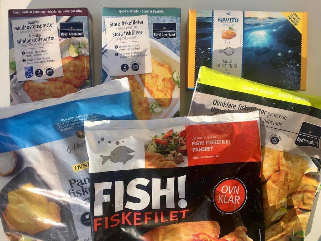 Der er stor forskel på smagen i frosne fiskefileter fra supermarkedet. Smagsdommer og fødevareekspert Charlotte Mithril har lavet en smagstest af fiskefilet. Foto: Charlotte Mithril / Madensverden.dk