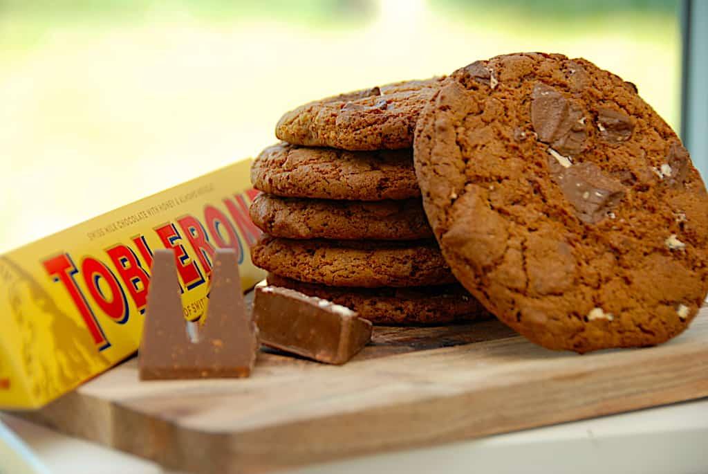 Toblerone cookies - nem opskrift på 20 minutter